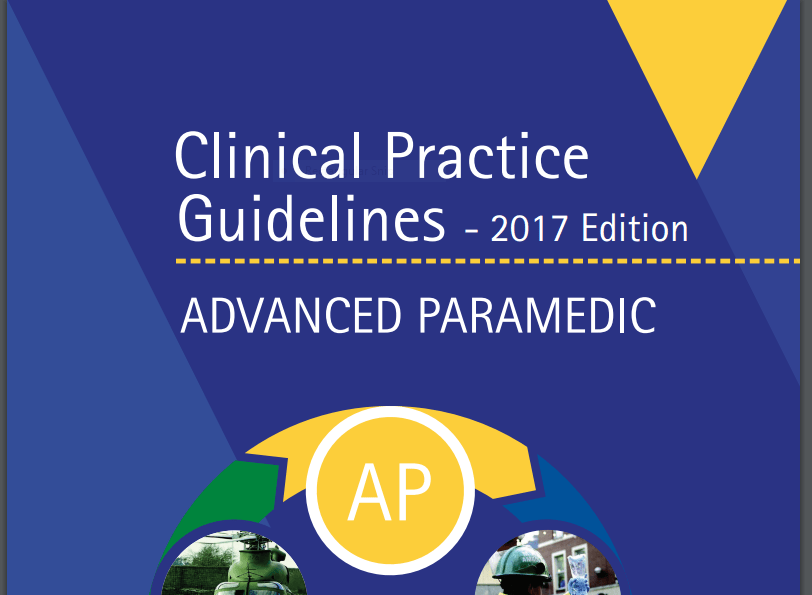 2017 Advanced Paramedic Clinical Practice Guidlines